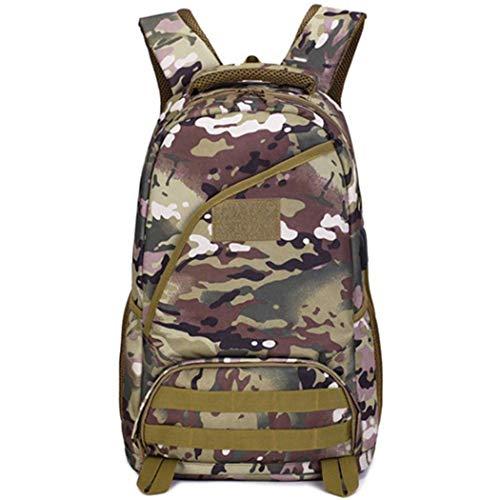 Mochila táctica de 25 l de asalto militar, impermeable, mochila universitaria, senderismo, viajes, camping, Hombre, CP Camo, as picture