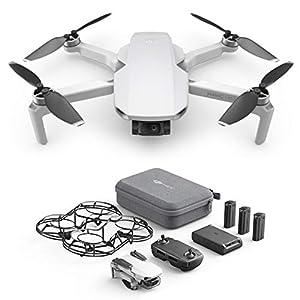 DJI Mavic Mini Combo, Ultralight, Portable Drone, 30 min. Flight Time, Transmission 2 Km, 3-Axis Gimbal, 12MP, Video HD 2, 7K, 3 Batteries