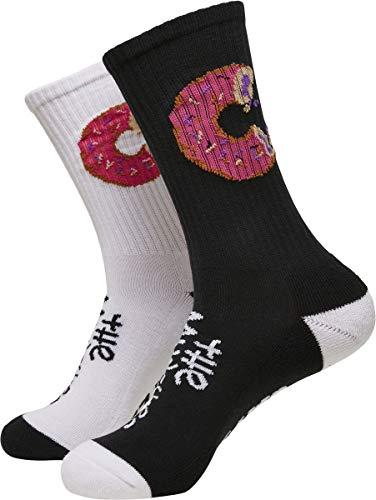 Cayler und Sons Unisex Munchies 2-Pack Socken, Black/White, 39-42