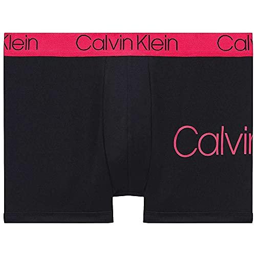 Calvin Klein Katoenen Stretch Trunk, Zwart Met Downtown Roze Tailleband XL Zwart Met Roze Tailleband In Het Centrum