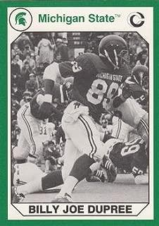 Billy Joe Dupree football card (Michigan State) 1990 Collegiate Collection #73