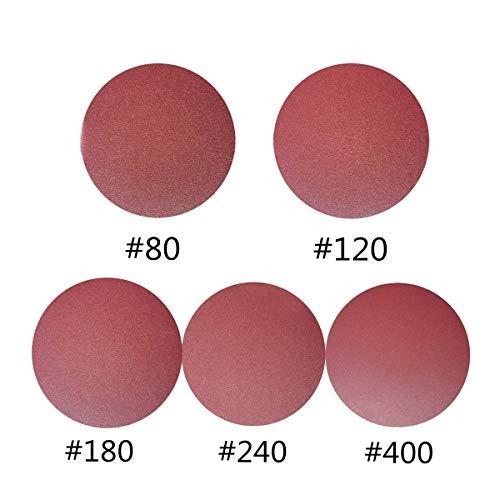 50 PCS 6-Inch PSA Sanding Discs, Self Adhsive Back Assorted Sandpaper 80 120 180 240 400 Grits