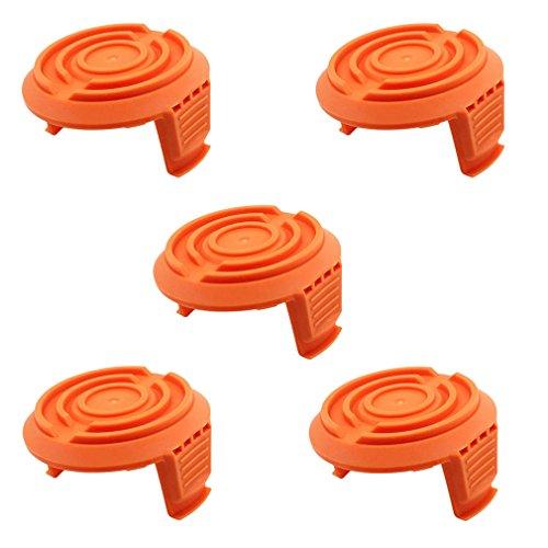 AISEN 5 x Trimmer Spule Kappen Deckel für Worx WA6531 GT WG150 WG151 WG152 WG153 WG154 WG155 WG156 WG157 WG160 WG163 WG165 WG166 WG170 WG175 WG180 kabellose Grasschneider