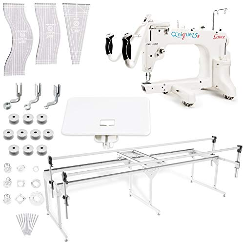Grace Q'nique 15R Midarm Quilting Machine with Q-Zone Queen Frame with Bonuspack