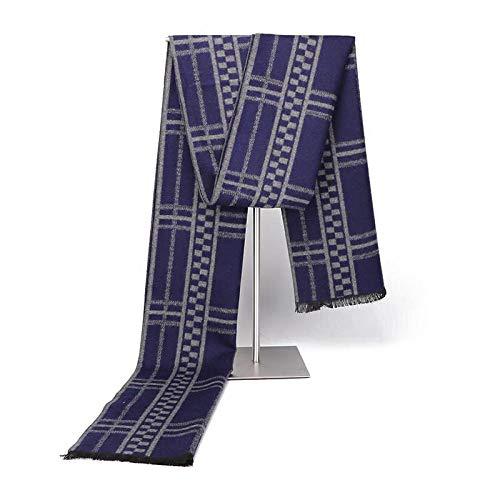 Bufanda 2020 para hombre, otoño e invierno, bufanda de alta gama, cálida, sencilla y versátil, bufanda para jóvenes y medios-31Wcp068_Los 30 * 180cm