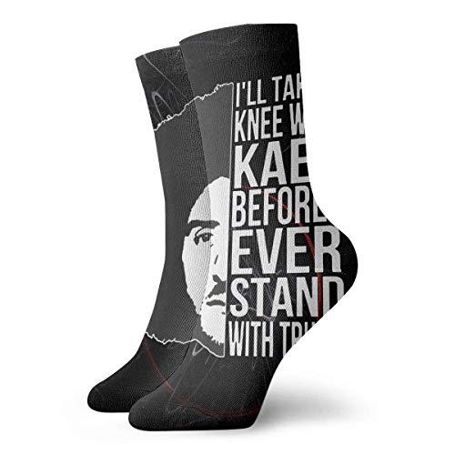 VLOOQ-HX Ich kann nicht atmen Colin Kaepernick Kniend1 Unisex Womans Mans Kleid Lustig Verrückte Winter Warme Crew Socken