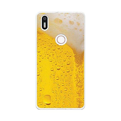 Tumundosmartphone Funda Gel TPU para BQ AQUARIS X5 Plus diseño Cerveza Dibujos