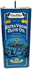 Vasiliko Extra Virgin Ilove Oil, 1.32 Gallon Tin (5 Liter) Laconia Sparta Greek Olive Oil, Superior Category Quality, Greek, Cold Pressed, Protected Geographical area (PGI) For Cooking and Baking