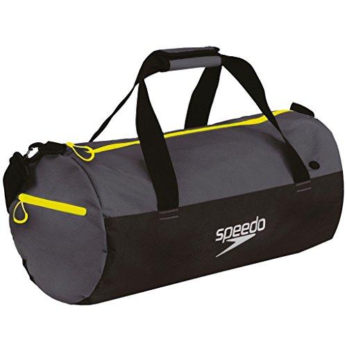 Speedo Erwachsene Duffel Bag, Oxid Grey/Black/Fluo Yellow, 70 x 30 x 30 cm