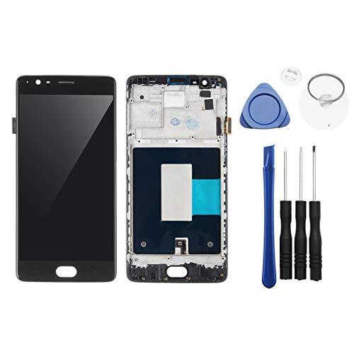 Hongfei Für Oneplus 3 3T-Bildschirmersatz, Oneplus A3000 A3003 LCD Display Touchscreen Digitizer Baugruppe mit Reparaturwerkzeug