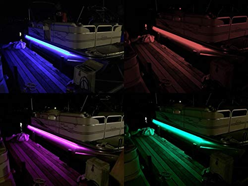 BLAST LED - Pontoon Boat Under Deck LED Lights | Includes Wiring, SWTICH & MOUNTING Track - Multi-Color-Changing-RGB (22-26 feet)