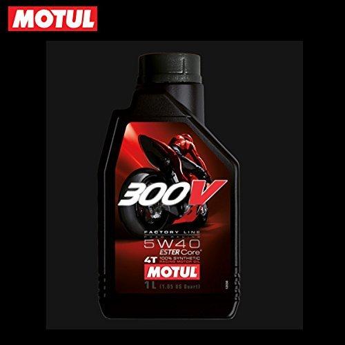 MOTUL(モチュール) 300V FACTORY LINE ROAD RACING (300V ファクトリーライン ロードレーシング) 5W40 バイク用100%化学合成オイル 1L[正規品] 11102411