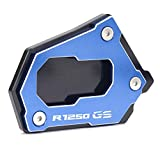 Motorcycle Side Stand for B-M-W R1250 GS R 1250 GSA R 1250GS HP 2020 Motorcycle CNC Side Stand Enlarge Extension Accessories Motorbike Kickstand Plate (Color : R1250GS-B Blue)