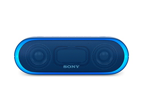 Sony SRS-XB20L - Altavoz inalámbrico portátil (Bluetooth, NFC, Extra Bass, 12h de batería, Wireless Party Chain, luz Lineal) Color Azul