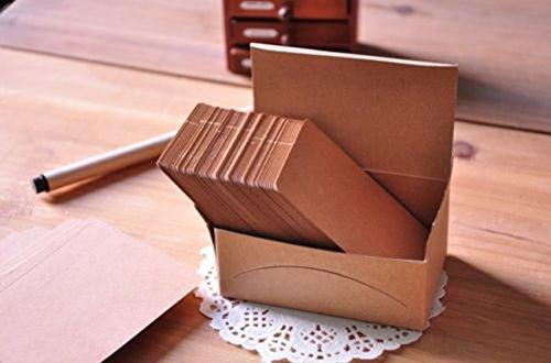 【ノーブランド品】クラフト紙製 無地 カード 荷札 メッセージカード ラベル タグ  100枚