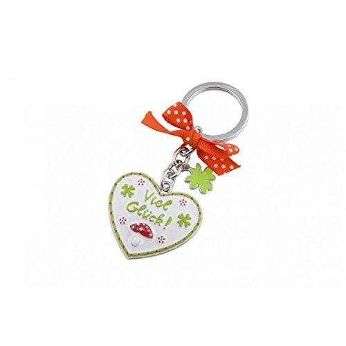 Gift Company corazón, llavero, buena suerte, blanco, zinc fundido a presión esmaltados,...