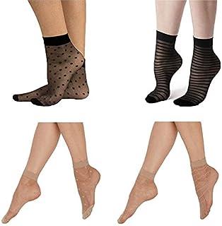 Carina Socks - Voile Socks Jakard - For Women - 4 pcs-Multi color