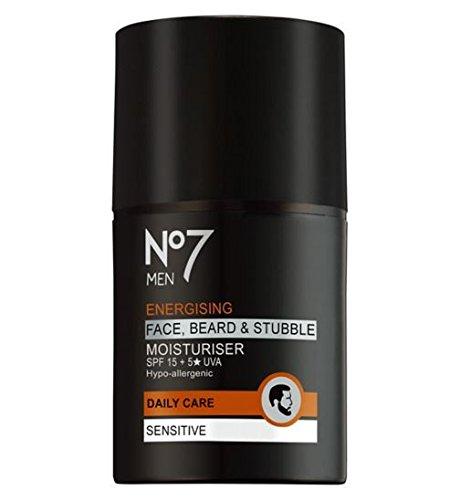No7 Men Energising Face, Beard & Stubble Moisturiser
