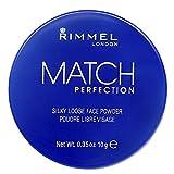 Rimmel London Cipria Trasparente Match Perfection, Polvere Libera Opacizzante Per Il Viso, 10 gr