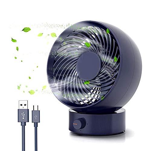USB-ventilator, Stille USB-bureauventilator Met Gratis Snelheden En Verstelbare Kop Kleine Desktop Tafel Koelventilator for Thuiskantoor Buitenshuis En Op Reis