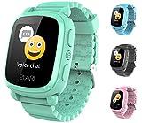 Elari 2G Reloj Inteligente Niño y Niña GPS Localizador y Llamadas Bidireccionales Audio, Chat de Voz, Botón SOS, Pantalla Táctil Grande y Brillante, Juegos KidPhone 2 (Verde)