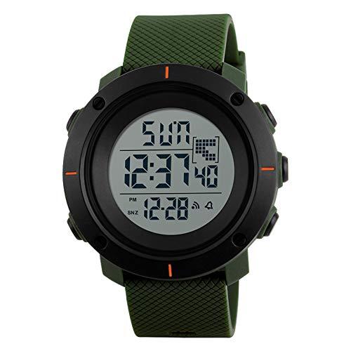 YYKJ Reloj Electrónico, Reloj Deportivo Digital para Niños/Hombres, Reloj Impermeable con Pantalla LED, Cronómetro con Pantalla Retroiluminada Transparente, Reloj De Vi 5