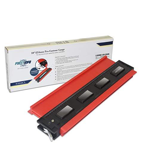 良匠 FIRSTINFO TOOLS ロック機構設計254mm型取りゲージ (カラー・ボックスと二種類の寸法表示の目盛りが付き) (254mm)