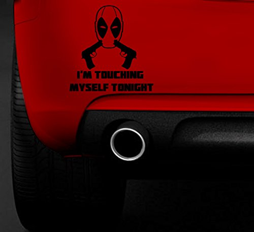 Deadpool tocar Yo con pistolas Funny Car VAN COCHE Barco Ventana Vinilo Adhesivo
