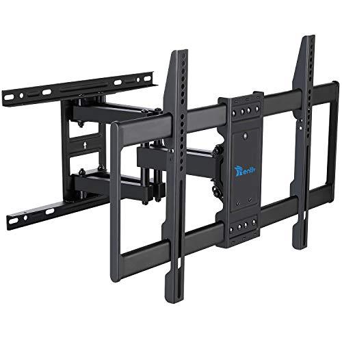 RENTLIV TV Wandhalterung, Fernseher Wandhalterung Schwenkbar Neigbar, TV Halterung für 37-70 Zoll (94-178cm) Flach & Curved Fernseher oder Monitor bis zu 60kg, max.VESA 600x400mm