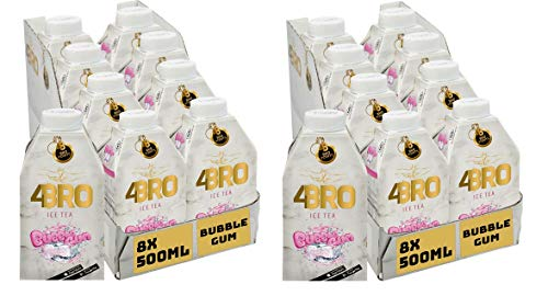 16 Packungen 4 Bro Ice Tea Bubble Gum a 0,5l Eistee Kaugummi (16 x 0,5l)