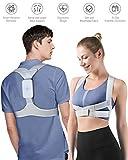 Homtiky Corrector de Postura Inteligente con Vibración para Hombre y Mujer, Corrector Postura Espalda Inteligente para Aliviar el Dolor de Espalda, Hombro y Cuello, L