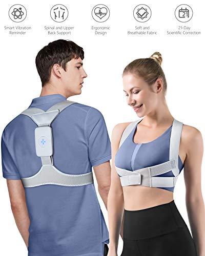 Homtiky Rücken Geradehalter zur Haltungskorrektur, verstellbarer Rückentrainer/Rückenstütze Schultergurt für Nacken-, Rücken-, Schulterschmerzen ideal für Damen/Herren/Kinder