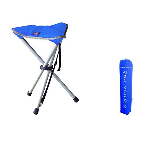 Unbekannt MAC Dreibein Hocker Faltstuhl Campingstuhl blau
