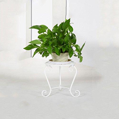 CKH Européenne Créative Fer Forgé Fleur Étagère Plancher Balcon Pot Rack Intérieur et Extérieur Salon Vert Luo Unique Multi-Viande Fleur Blanc 2