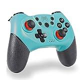 Controlador inalámbrico para Nintendo Switch/Switch Pro, Bluetooth Joystick con Doble vibración, Turbo, 6-Axis Gyro Function Gamepad Verde