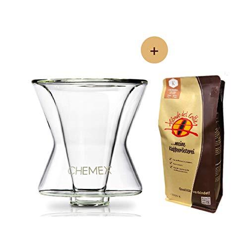 Chemex Funnex Aktionspaket Handfilter/Kaffeebereiter mit 1 * 250 gr. Spitzenkaffee von Mondo del Caffè