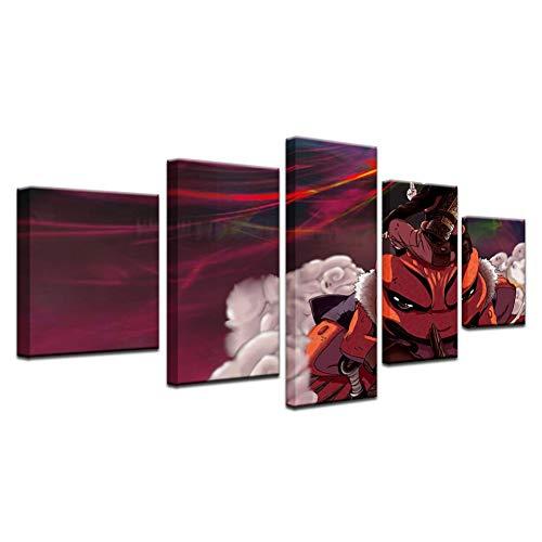 QJSTD Tapete Plakat Leinwand Malerei Naruto Kröte Gitarre Wand Kinder Heimtextilien HD Ölgemälde weniger , Rahmen