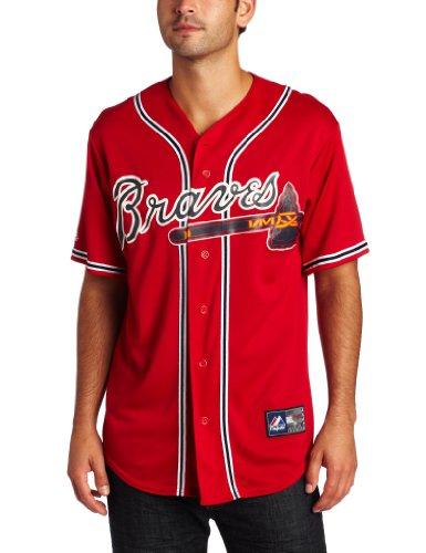 Majestic MLB Trikot Atlanta Braves Alternate Replica Rot, Herren, scharlachrot, Medium