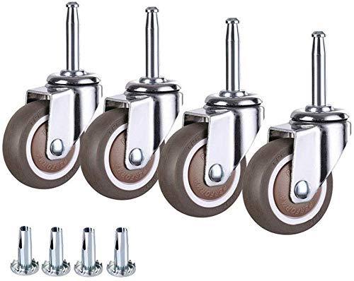 AZWE Ruedas giratorias 4X, ruedas de 1.5/2 , ruedas para cuna, ruedas de empuje, ruedas para muebles, ruedas de bajo ruido, ruedas para sillas, con frenos para muebles, dispositivos y equipos,4 No