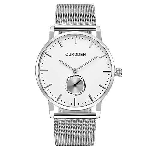UINGKID Collection Unisex-Armbanduhr Herren Uhren Ultra Dünne Edelstahl-minimalistische ultraDünne analoge Armbanduhr aus Edelstahl wasserdicht