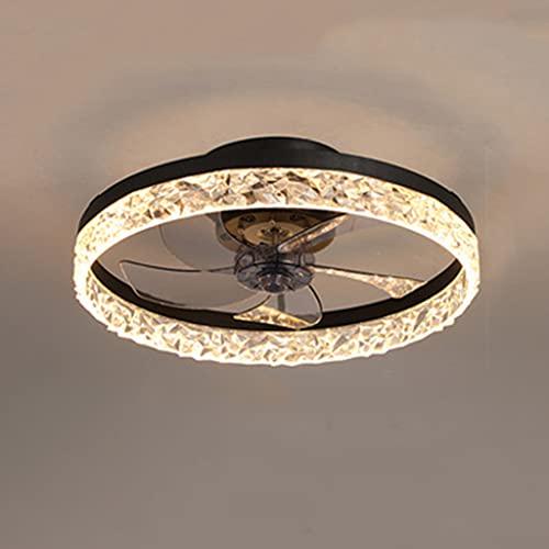 Lámpara LED de techo para ventilador, dormitorio, moderna, creativa, ventilador de techo, lámpara para habitación infantil, iluminación de techo con mando a distancia