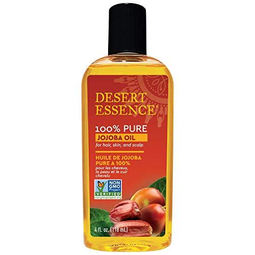 Desert Essence Jojoba Oil for Hair, Skin & Scalp 4 fl oz (120 ml)