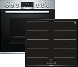 Bosch (HEB578BS1 + NXX675CB1E) - Electrodomésticos de cocina Horno de placa de inducción Aparato de cocina - Conjuntos de juegos (placa de inducción, vidrio y cerámica, negro, 3300 W, táctil, 60,6 cm)