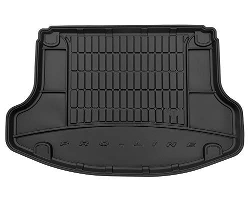 Kofferraummatte aus Gummi, kompatibel mit Hyundai i30 Fastback Nperformance ab 2017 (mit Kofferraum-Organizer, 5 Türen) | Kofferraummatte Autozubehör | Ideal für Hunde und Haustiere