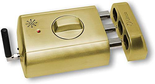 Cerradura electrónica invisible con alarma SUPRATONIK, Oro