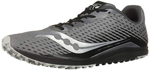 Saucony Men's Kilkenny XC 8 Flat Track Shoe, Black/Silver, 10 Medium US