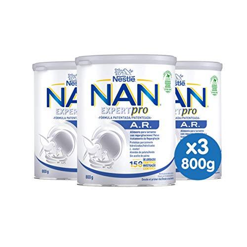 NAN A.R. - Alimento en polvo para lactantes con regurgitaciones Desde el primer día 800 g - Pack de 3