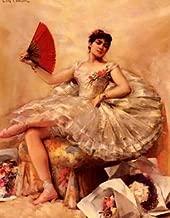 globalartdepot 12X16 inch Comerre Francois Portrait Of The Ballerina Rosita Mauri