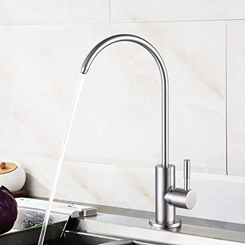 Learn More About Kitchen Water Faucet 304 Stainless Steel Lead-Free Drinking Water Faucet High Arc S...