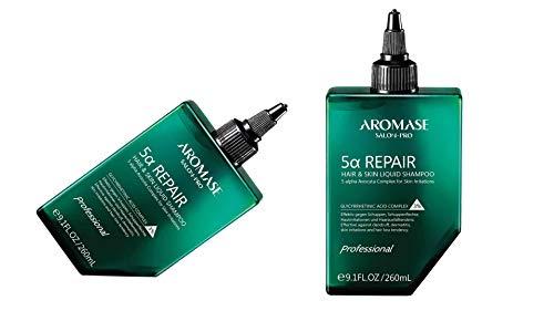 AROMASE Liquid Pre-Shampoo 5a Repair - Effektiv gegen Schuppen, Schuppenflechte & Haarausfalltendenz - 260 ml